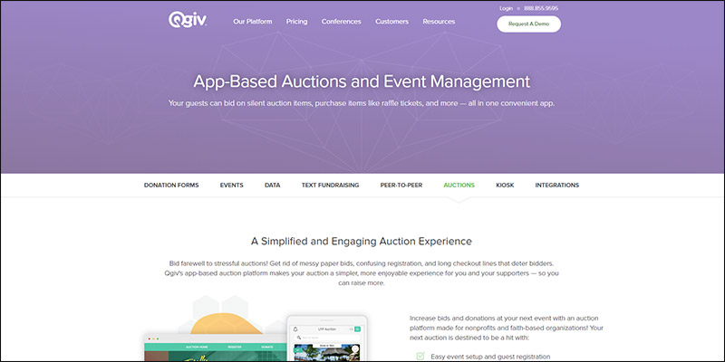 See how Qgiv's online silent auction software can help you with your next event.
