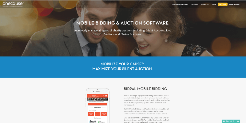 See how online silent auction software from OneCause can help your nonprofit with your next auction event.