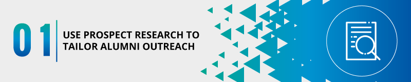 Prospect research can tailor your university fundraising outreach for alumni.