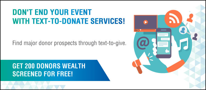 Learn how to find major donor prospects using text-to-give platforms.
