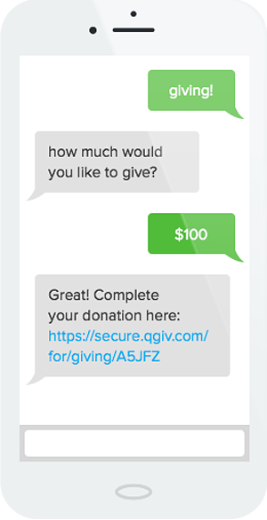 Check out how Qgiv's text-to-donate tool can be used in action.