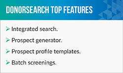 Check out DonorSearch's museum software top features.