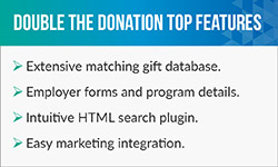 Check out Double the Donation's museum software top features.