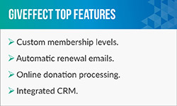 Check out Giveffect's museum software top features.