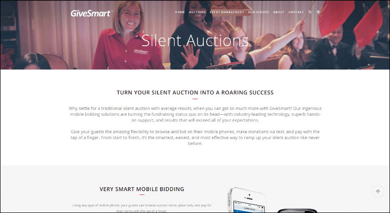 Check out GiveSmart's online silent auction software.