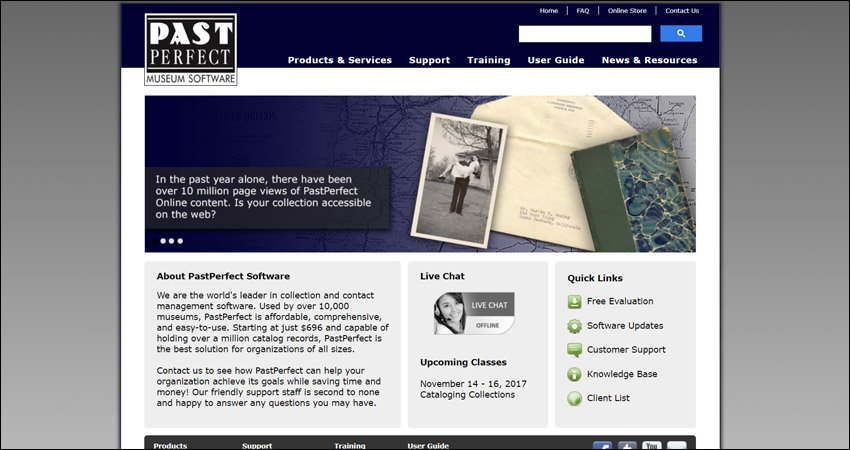 PastPerfect is a museum software solution for collections.