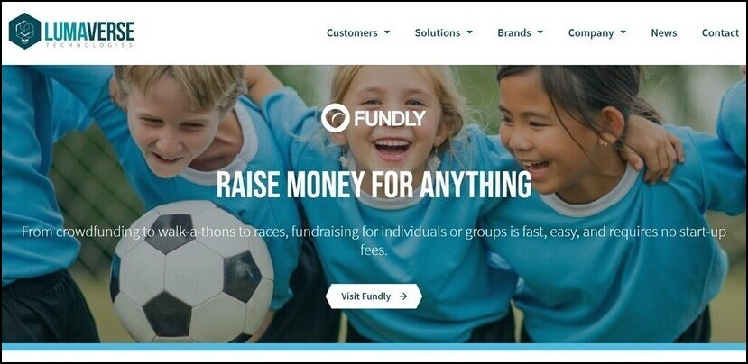 Here's a look at Lumaverse's peer-to-peer fundraising platform.