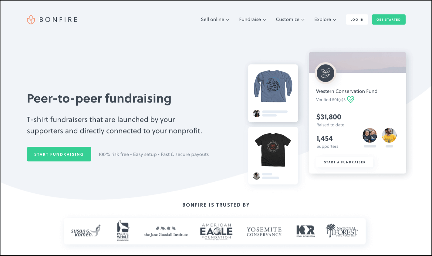 Learn more about Bonfire's peer-to-peer fundraising platform on their website.