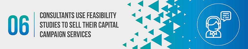 Consultants use feasibility studies to sell their capital campaign services.