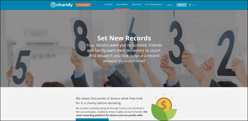 Take a look at the peer-to-peer fundraising software from Charidy.