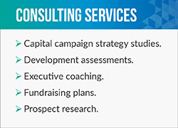 The Alexander Haas team will help your nonprofit launch its next capital campaign.