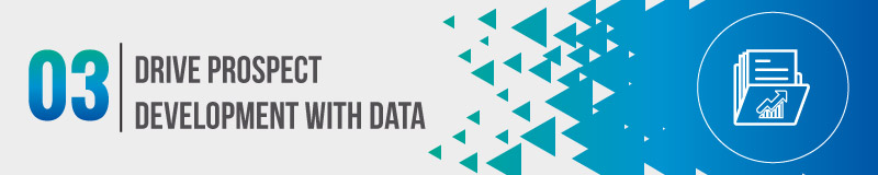 Drive your prospect development process with data.