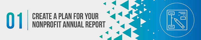 Nonprofits need to organize a plan of action before creating their annual report.