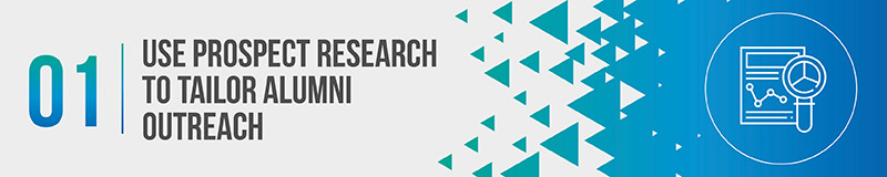 Use prospect research to gather new university fundraising leads.