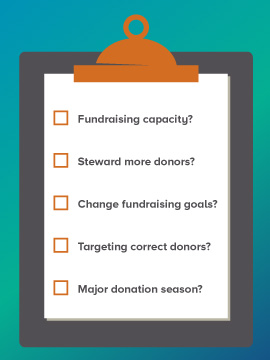 This is a list of top questions you should ask yourself while planning a fundraising strategy with donor analytics.