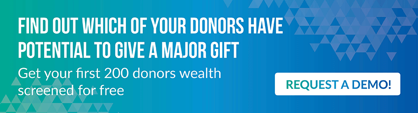 Screen your donors and get one step closer to maximizing your data with fundraising analytics.