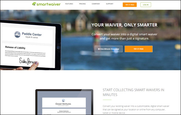 Check out Smartwaiver to see the full functionality of this online waiver app.