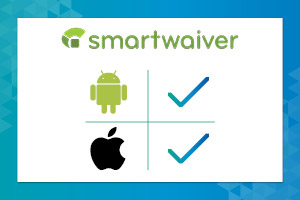Smartwaiver's online waiver app is available on both IOS and Andriod.
