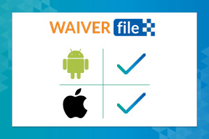 WaiverFile's online waiver app is available on both IOS and Andriod with the right Kiosk app.