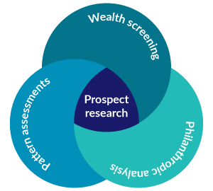 Wealth data is important to prospect research.
