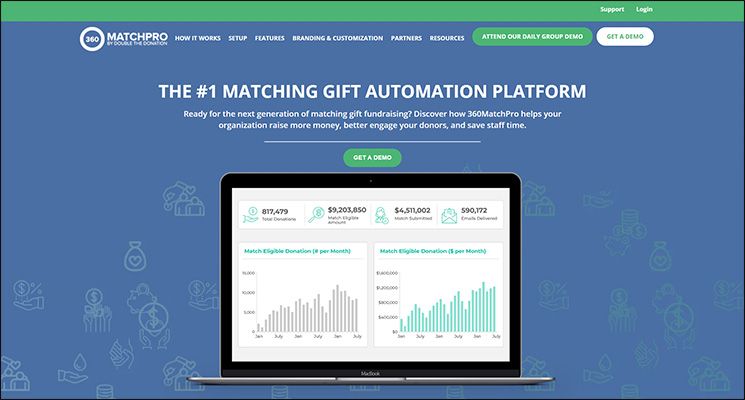 Check out 360MatchPro, a top Salesforce App for nonprofits, for matching gift automation.