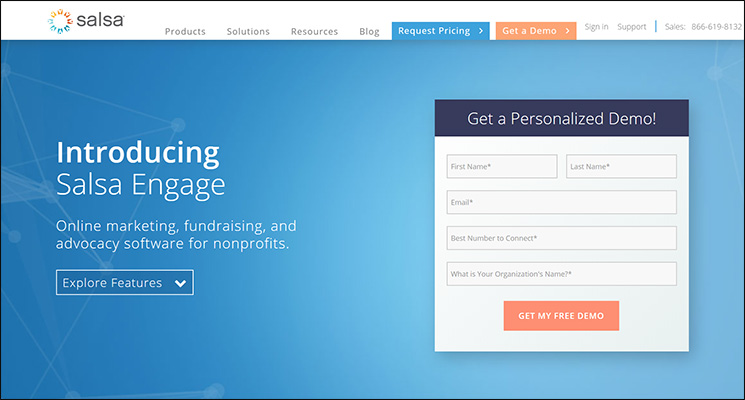 Check out Salsa Engage for a top Salesforce app for nonprofits.