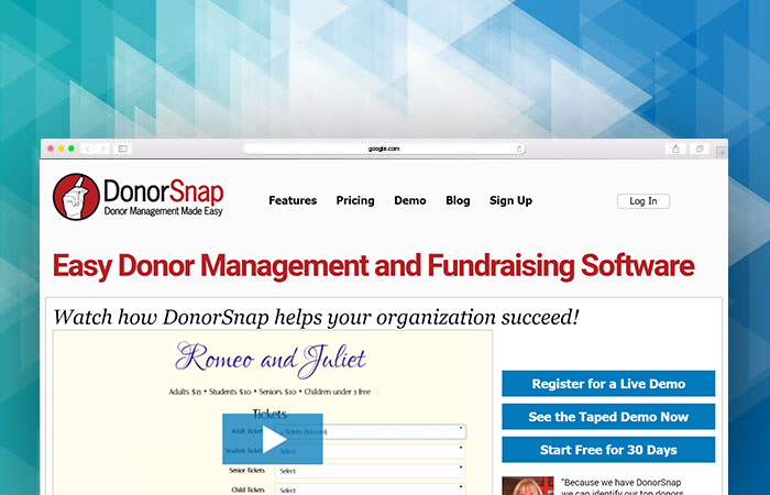 Find out if DonorSnap is the fundraising software for you.