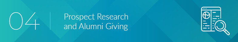 Read on to learn more about prospect research and alumni giving.