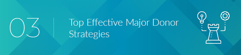 Let's review some of our top effective major donor strategies.