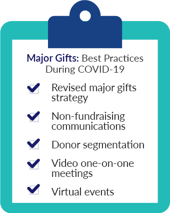 Here are the major gift fundraising best practices during COVID-19