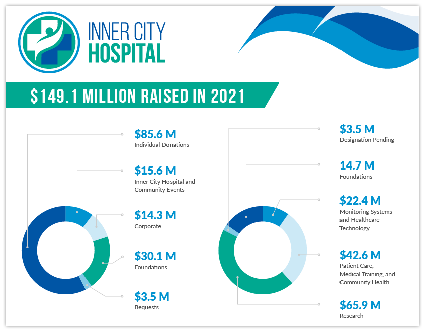 Here is an example of using visuals in your nonprofit annual report.