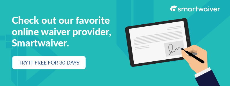 Check out one of our favorite online waiver apps, Smartwaiver.
