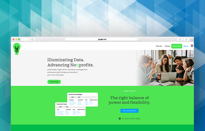 Little Green Light's website can tell you more about their nonprofit fundraising software.
