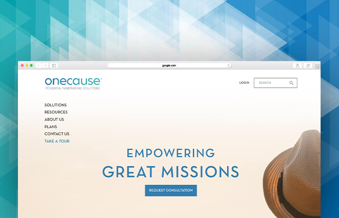 OneCause's website can tell you more about their fundraising software.