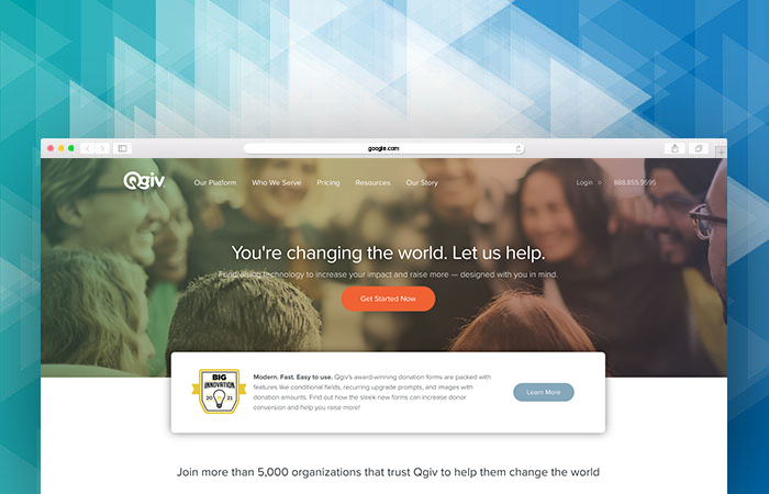 Qgiv's website can tell you more about their nonprofit fundraising software.