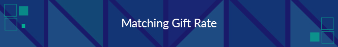 Matching gift rate is a nonprofit fundraising metric that reports the percentage of gifts matched.