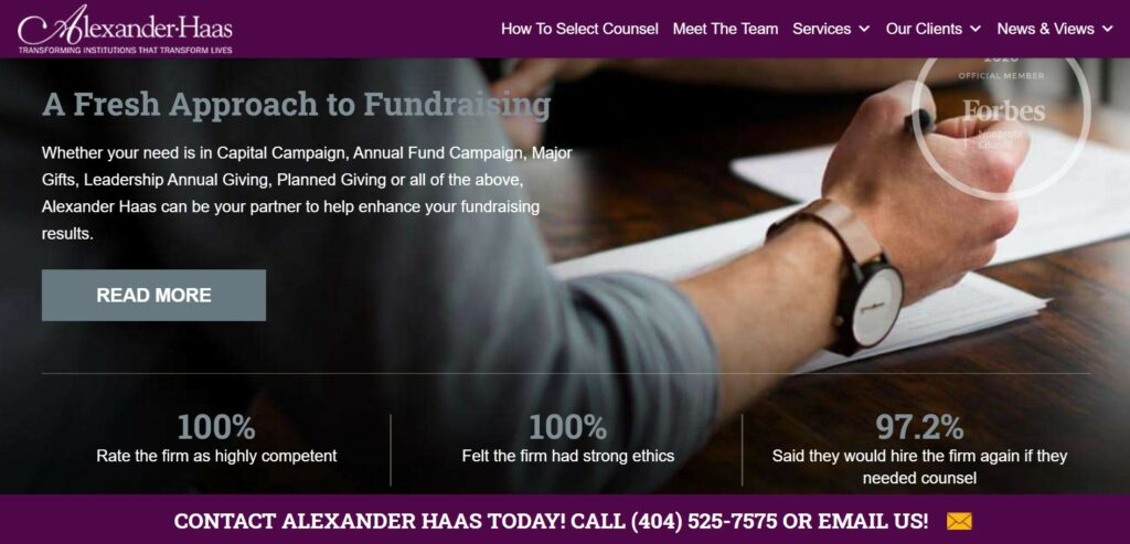 Alexander Haas is one of our favorite nonprofit consulting firms.