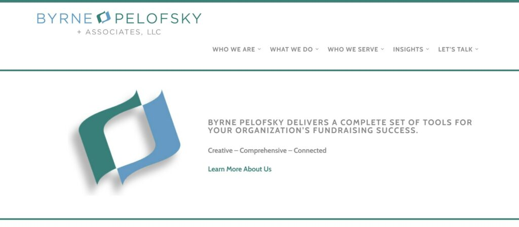 Bryne Pelofsky is one of our favorite nonprofit consulting firms.