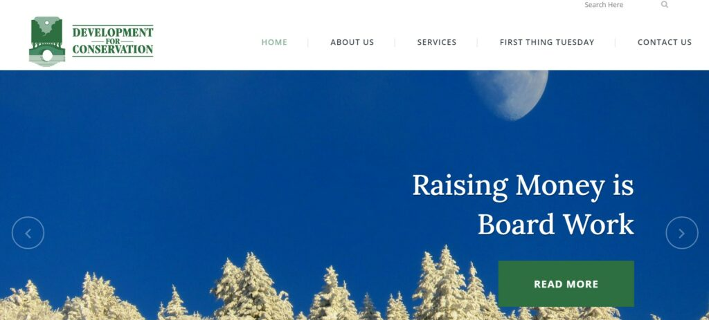 Development for Conservation is one of our favorite nonprofit consulting firms.