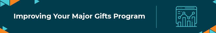 Improving your major gifts program