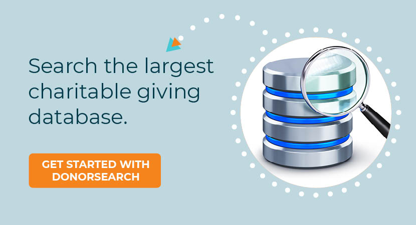 Get started with our charitable giving database