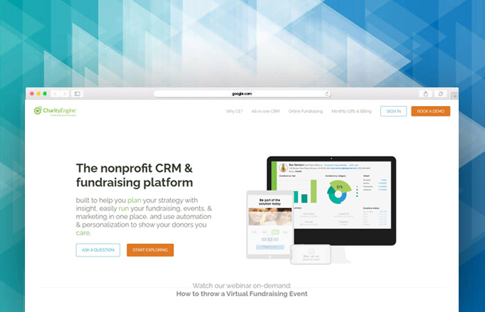 Visit CharityEngine's website to learn more about their fundraising software