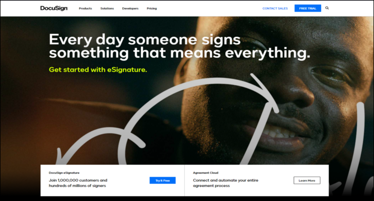 Docusign is a top Salesforce App for nonprofits for managing documents.