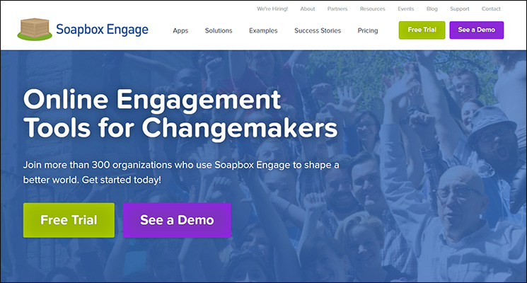 Soapbox Engage is a top Salesforce App for nonprofits.