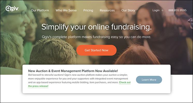 Check out Qgiv, a top Salesforce App for nonprofits.