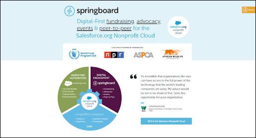 Springboard is the top Salesforce app for digital engagement.