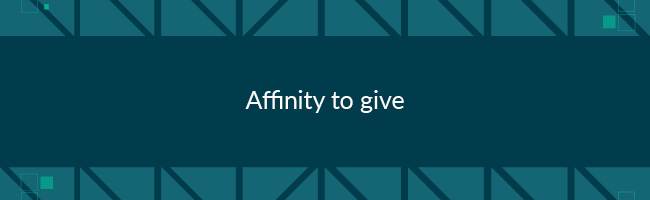 Giving affinity is a good measurement of how connected someone is to your cause.