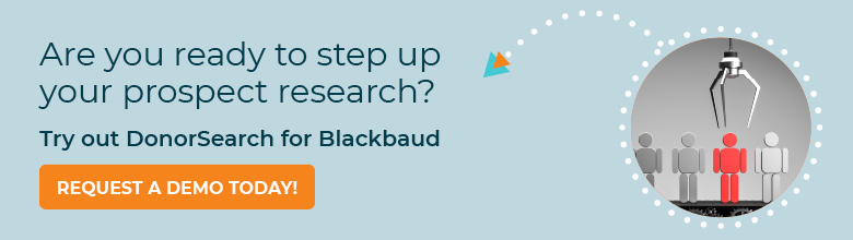 Request a demo of DonorSearch for Blackbaud today!