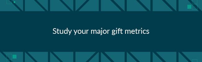 To improve major donor fundraising, study your major gift metrics